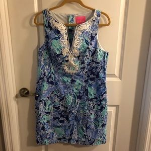 Lilly Pulitzer Gabby Shift Dress Size 12 Blue